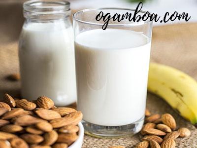 leche de almendras preparacion