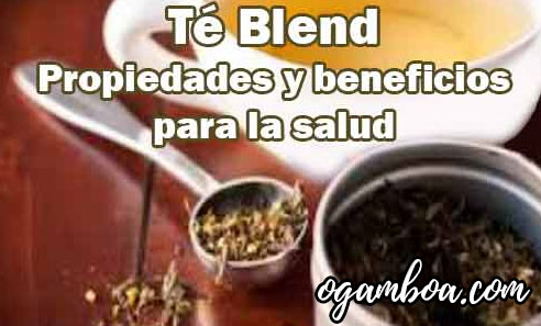contraindicaciones del te blend beneficios