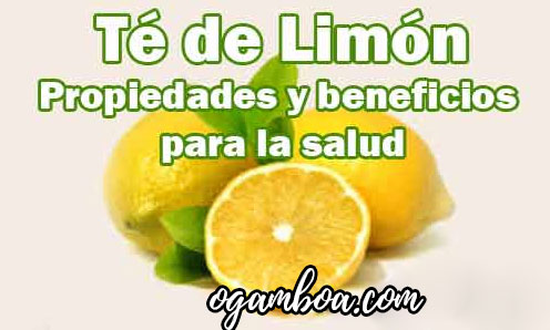 te de limon beneficios y contraindicaciones